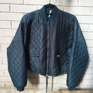 Free People Easy Quilted Bomber Jacket 🌿